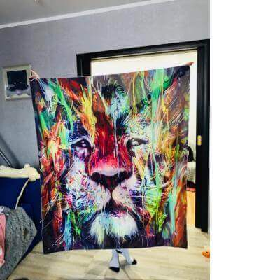 Lion Painting Tapestry | Wall Hanging Decoration