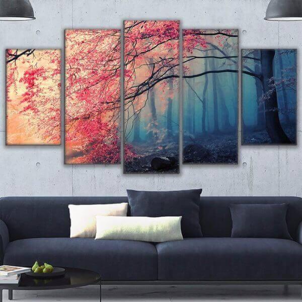 Cherry blossom tree canvas wall art