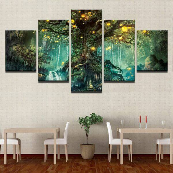 Enchanted Tree canvas Wall Art HD