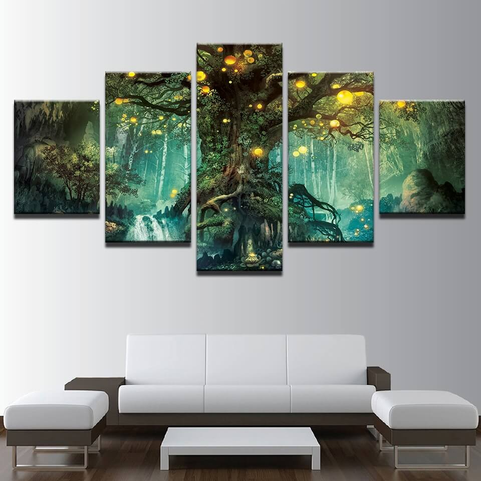 Enchanted tree canvas wall art | Pine wood frame| Addyzeal.com