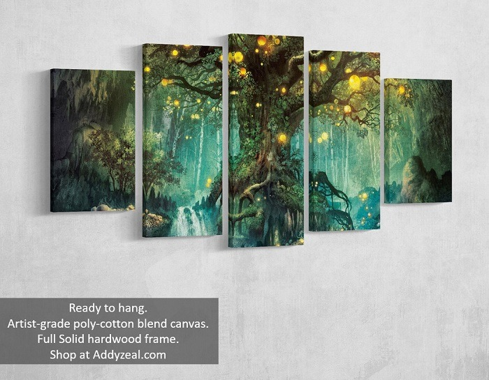 Enchanted Tree canvas wall art tree wall art, canvas tree art, forest wall art, tree canvas prints, nature wall art, tree wall decal, tree canvas, tree canvas wall art, tree canvas painting, forest canvas.