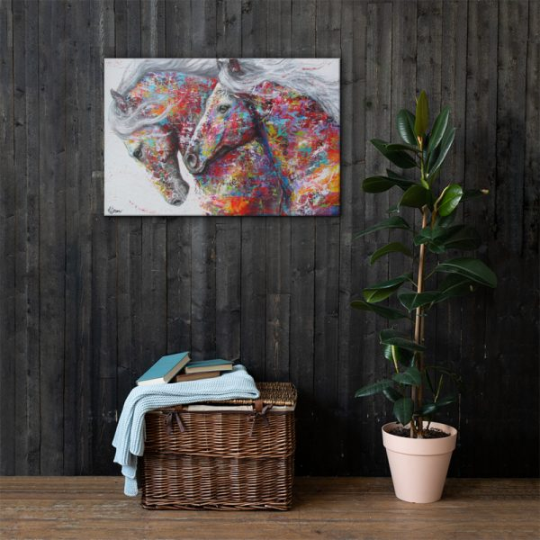 Horse canvas art abstract painting