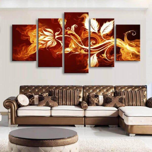 Modular Flower Canvas Wall Art