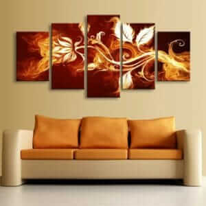 Modular Flower Canvas Wall Art
