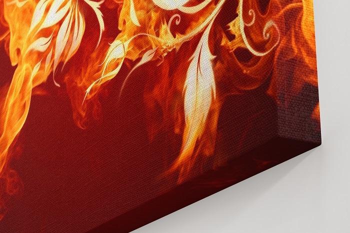 Modular Flower Canvas Wall Art - abstract canvas art, wall decoration, flower canvas art, floral wall art, canvas prints, wall decor, wall decor ideas, framed wall art, fire canvas art, flame print, 5 piece canvas art