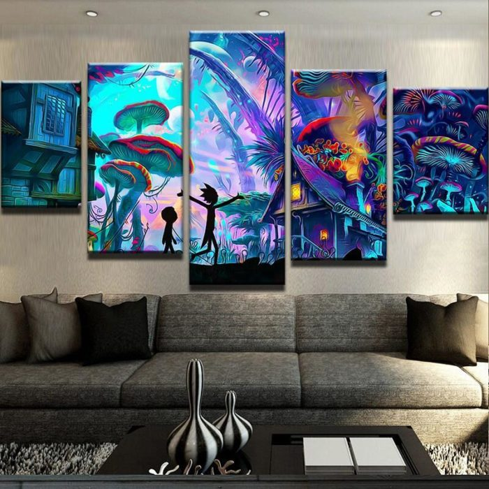 Rick and morty canvas wall art HD kids wall art, kids room decorating ideas, kids room decor, boys room decor, kids bedroom decor, framed wall art, canvas art prints, canvas wall art