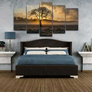 Vintage tree canvas wall art