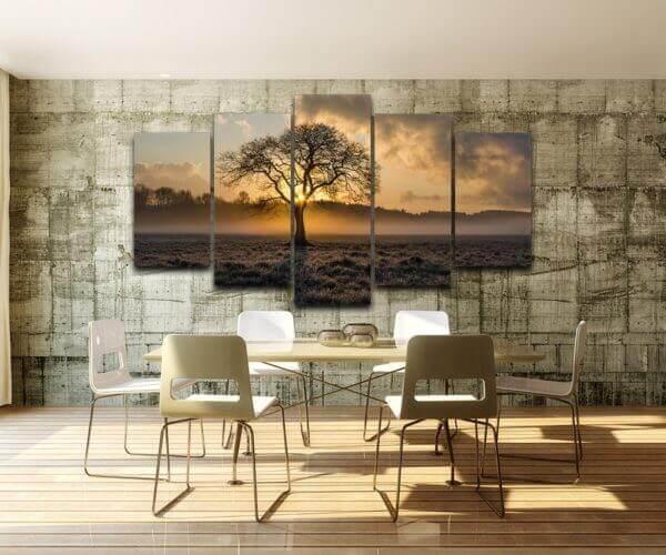Vintage tree canvas wall art