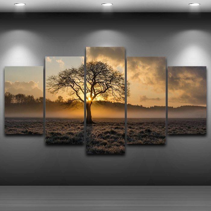 Vintage tree canvas wall art tree wall art, canvas tree art, forest wall art, tree canvas prints, nature wall art, vintage tree wall art, sunset wall art, sunset canvas wall art, tree canvas painting, oak tree canvas.