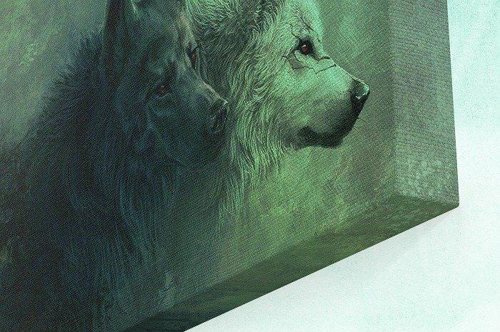 Wolf pack canvas wall art - nature wall art, large wall art, canvas wall art, wolf canvas art, wolf wall art, scenic wall art, living room wall decor, mountain wall art, home wall decor, tree wall art, canvas art, lone wolf wall art, Lone wolf canvas art.