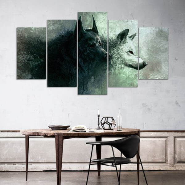 Wolf pack canvas wall art