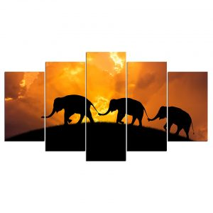 Elephant Trunk to Tail Canvas Wall Art