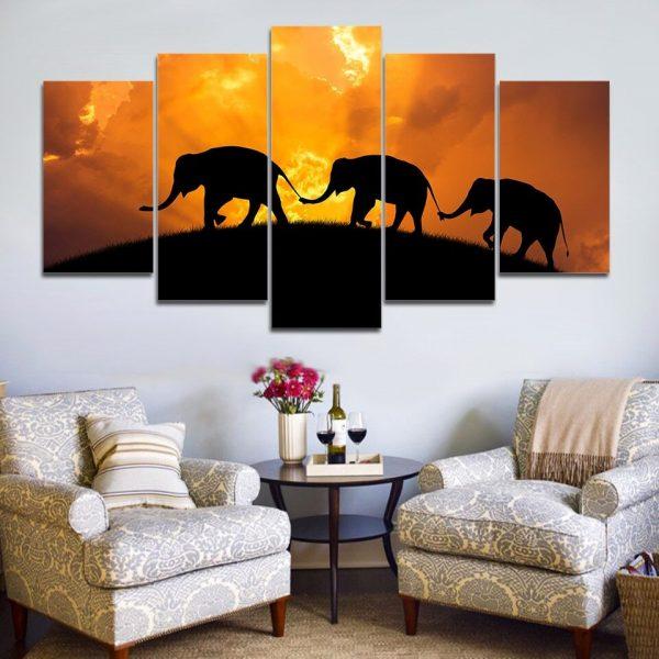 Elephant canvas wall art HD