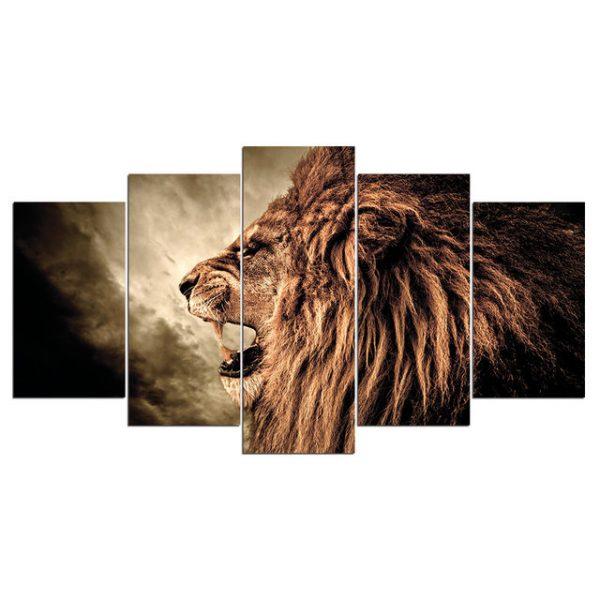 Roaring Lion Canvas Wall Art HD
