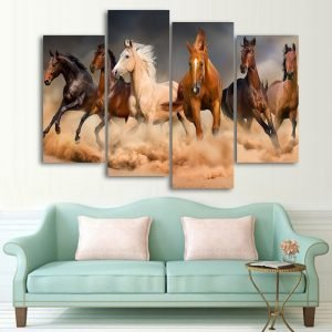 Beauty with Wilderness - Running horses Wall Art HD - horse prints, horse wall art, horse posters, abstract horse painting, horse canvas art, horse art, horse canvas, horse artwork, horse paintings on canvas, abstract horse art, horse canvas art, large canvas art, running horse canvas art, running horse painting, wild horse prints, animal canvas art.