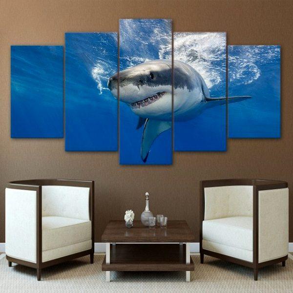 Underwater Shark Wall Art HD