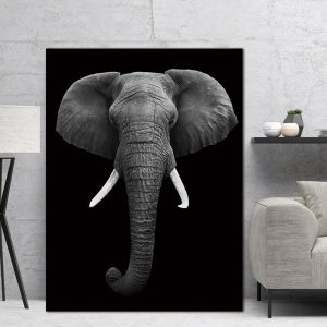 Elephant Wall Art HD Portrait