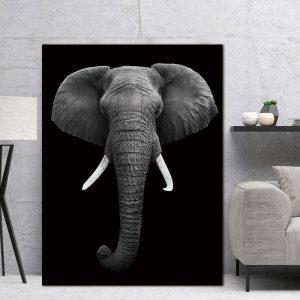 Elephant Wall Art HD Portrait