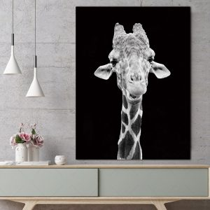 Giraffe Wall Art HD Portrait