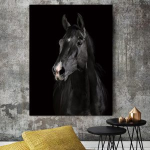 Horse Wall Art HD Portrait for living room decor Canvas wall art