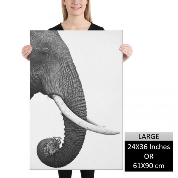 Elephant Scandinavian Style Wall Art HD Portrait