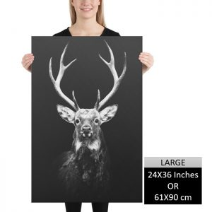 Reindeer Wall Art HD Portrait