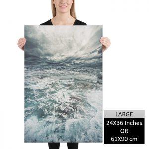 Stormy Ocean Wall Art HD