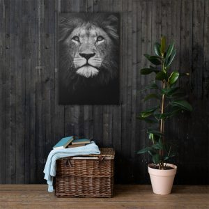 Lion King Canvas Wall Art HD Portrait