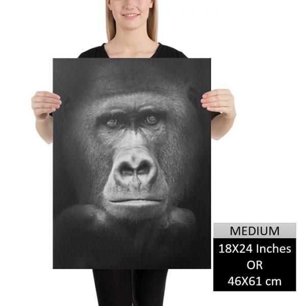 Gorilla Wall Art HD Portrait