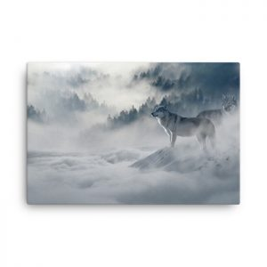 Snow wall art, nature wall art, large wall art, canvas wall art, wolf canvas art, wolf wall art, scenic wall art, living room wall decor, mountain wall art, home wall decor, tree wall art, canvas art, lone wolf wall art, Lone wolf canvas art.