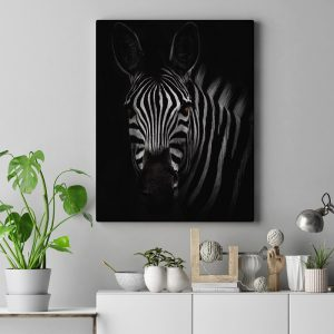 Zebra Wall Art HD Portrait