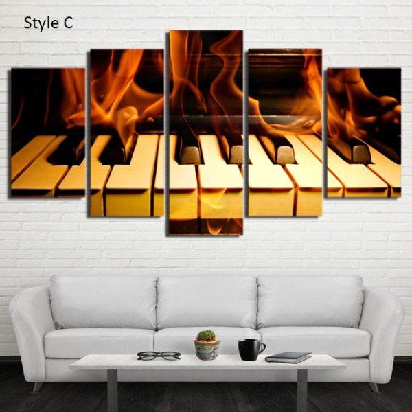 Relaxing Piano Wall Art HD