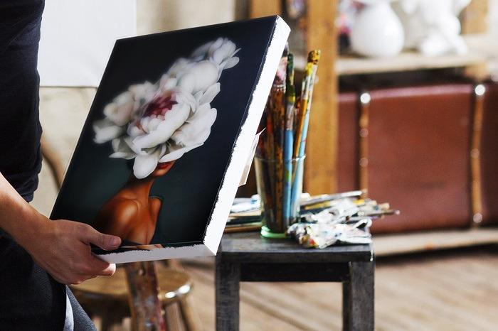 Charming Woman Flower Head Wall Art HD 1 updates