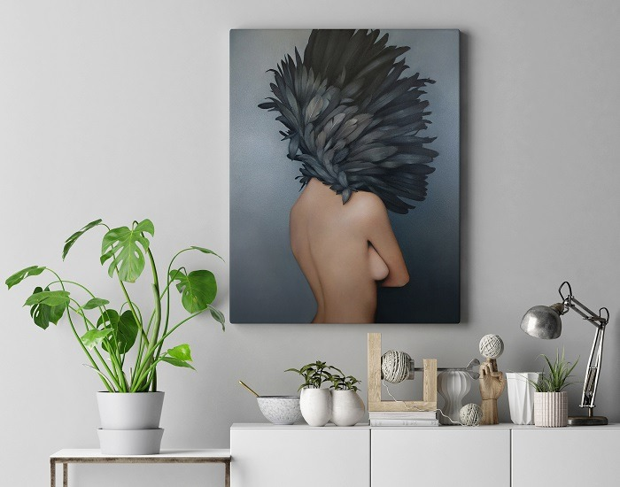 Charming Woman Flower Head Wall Art HD 3 updates