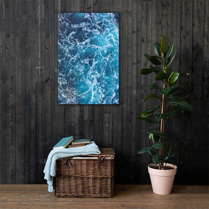 Sea Waves Wall Art HD on wall