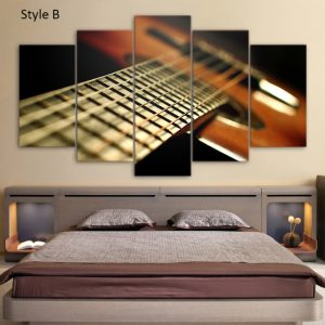 Vintage Guitar Wall Art HD
