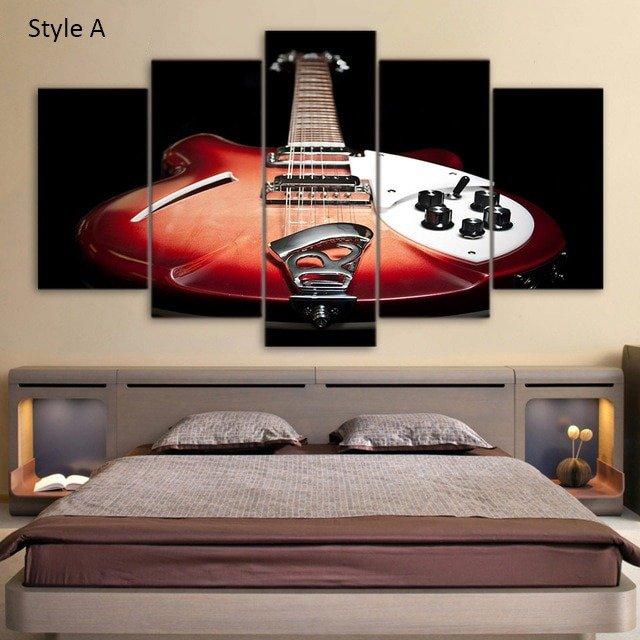 guitar wall art, boys decor, boys room wall art, kids room decor, boys bedroom ideas, boys room decor, girls room decor, music wall art, cool wall art