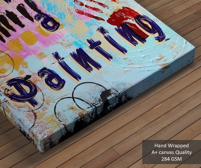 Life is a painting, abstract canvas art, colorful wall art, paint your life, inspirational canvas art, colorful wall decor, wall art quotes, wall painting, framed wall art, life paint, large canvas art
