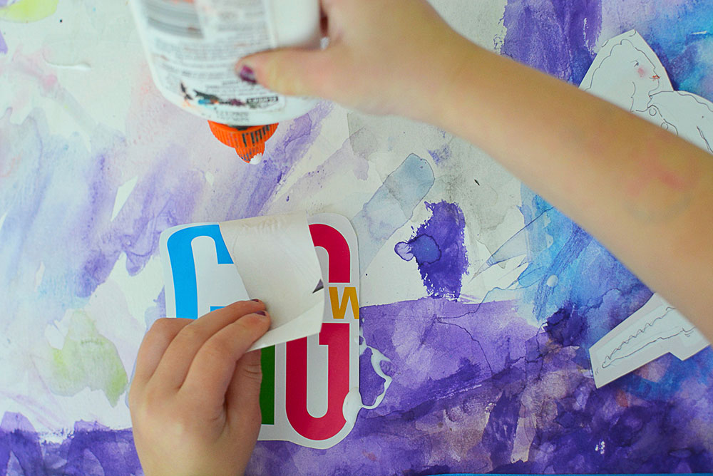 DIY Kids painting collage