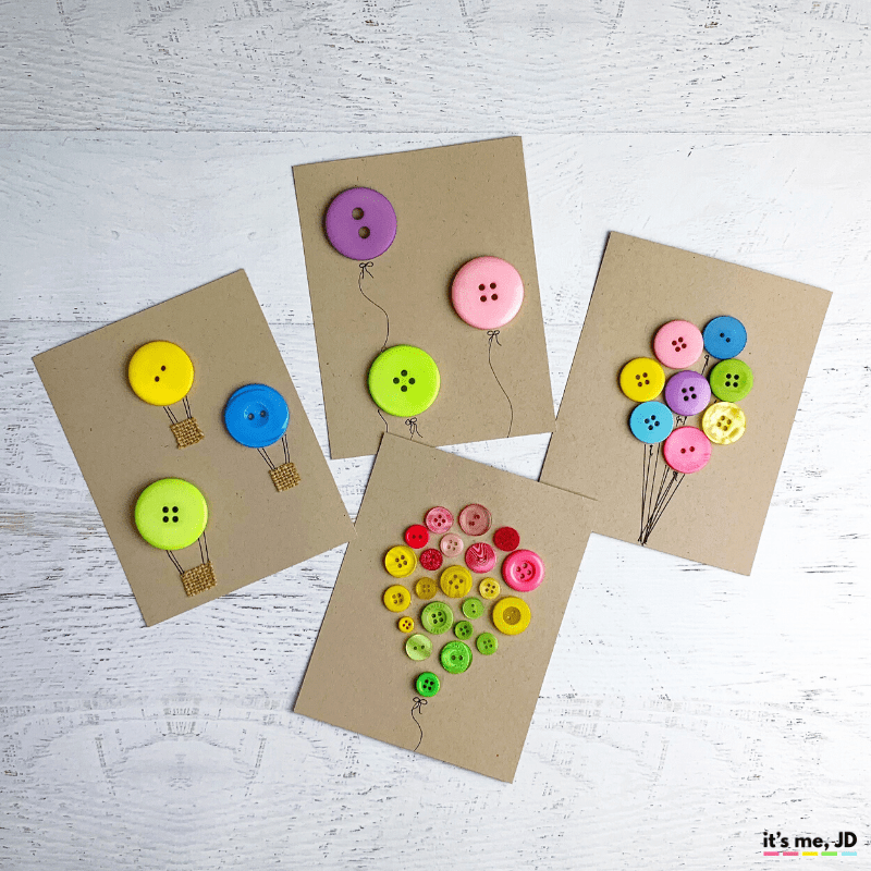 Button Card Crafts | DIY activities for Kids during holidays
